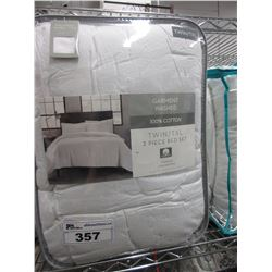 GARMENT WASHED 100% COTTON TWIN XL COMFORTER SET