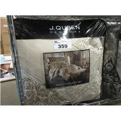 J QUEEN NEW YORK KING SIZE COMFORTER SET