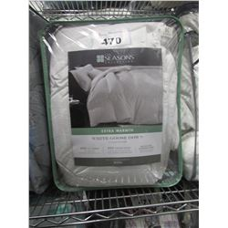 SEASONS EXTRA WARMTH WHITE GOOSE DOWN COMFORTER