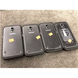4X SAMSUNG GALAXY S5 ACTIVE, CAPACITY UNKNOWN, AS-IS