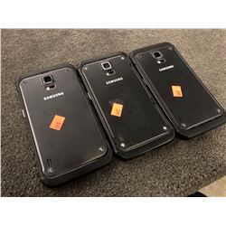 3X SAMSUNG GALAXY S5 ACTIVE, CAPACITY UNKNOWN, AS-IS