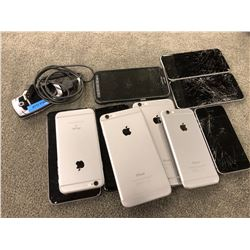 LOT OF ASSORTED DAMAGED PHONES, PARTS/REPAIR ONLY, INC. IPHONE AND OTHER