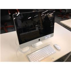APPLE IMAC 21.5'' COMPUTER, WITH WIRELESS KEYBOARD AND MOUSE, SERIAL NUMBER C02GMV5YDHJF, NO HARD