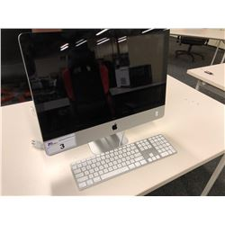 APPLE IMAC 21.5'' COMPUTER WITH APPLE FULL KEYBOARD, SERIAL NUMBER C02HJJJCDHJF, NO HARD DRIVE,