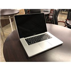 APPLE MACBOOK PRO, 15'', NO HARD DRIVE, NO POWER SUPPLY, AS-IS, SERIAL NUMBER C02JCBZWDV33
