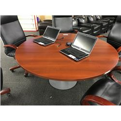 CHERRY 5' ROUND CONFERENCE TABLE