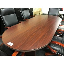 MAHOGANY 8' BOARDROOM TABLE