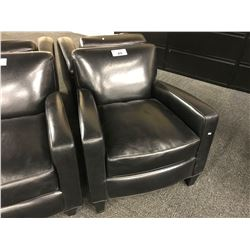 BLACK LEATHER RECEPTION CHAIR