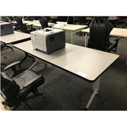 GREY 6' FOLDING MOBILE COMPUTER TABLE