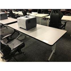 GREY 6' FOLDING MOBILE COMPUTER TABLE