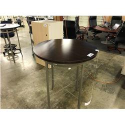 "ESPRESSO 30"" COUNTER HEIGHT ROUND BISTRO TABLE"
