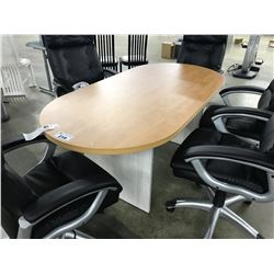 MAPLE AND WINTERWOOD 6' BOARDROOM TABLE