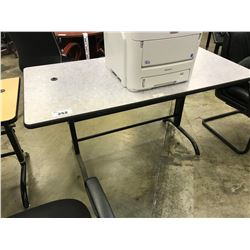 GREY 5' ADJUSTABLE HEIGHT COMPUTER TABLE
