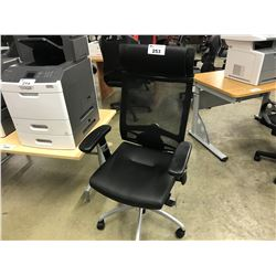 BLACK MESH BACK FULL ADJUSTABLE TASK CHAIR