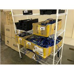 CONTENTS OF RACK INCLUDING POWER UNITS, CABLES AND PCI ADAPTERS (RACK NOT INCLUDED)