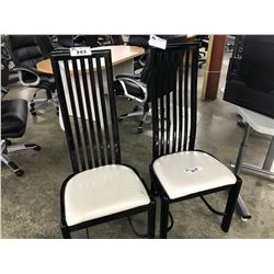 SET OF 6 BLACK FRAMED DINING CHAIRS