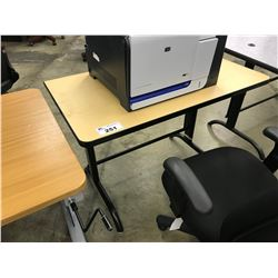 MAPLE 4' ADJUSTABLE HEIGHT COMPUTER TABLE