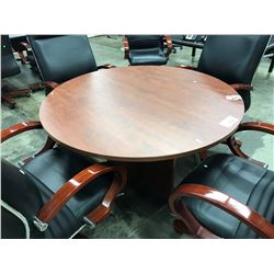 "CHERRY 42"" ROUND TABLE"
