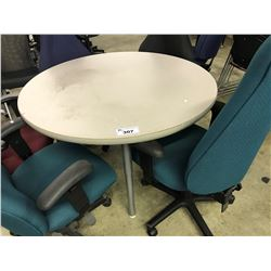 "GREY  42"" ROUND TABLE"