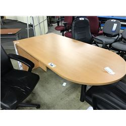 MAPLE 6' BULLET TOP EXECUTIVE  DESK