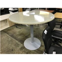 "GREY BAR HEIGHT 42"" ROUND TABLE"