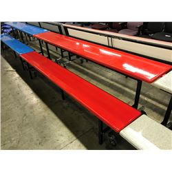 RED MOBILE 8' FOLDING BENCH/TABLE