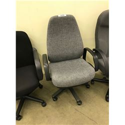 GREY HI BACK EXECUTIVE CHAIR, S1