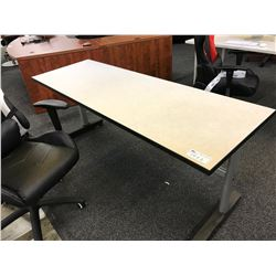 COLLAPSABLE 6' BEIGE TABLE