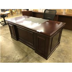 MAHOGANY 6' TRADITIONAL DOUBLE PEDESTAL EXECUTIVE DESK