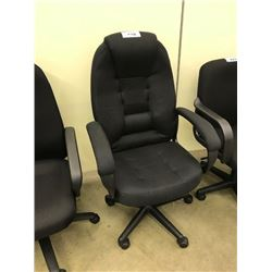 BLACK MID BACK EXECUTIVE CHAIR, S3