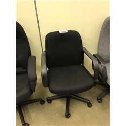 BLACK MID BACK EXECUTIVE CHAIR, S4