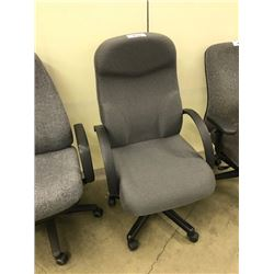 GREY HI BACK EXECUTIVE CHAIR, S2