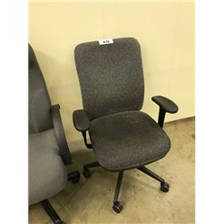 GREY HI BACK EXECUTIVE CHAIR, S3