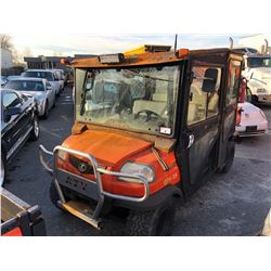 KUBOTA RTV1140 4 SEATER 4DOOR QUAD WITH DUMP METER READS 1249 HOURS