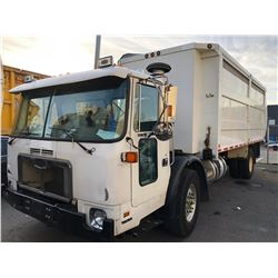 2008 AUTOCAR XPEDITOR, 2DR RECYCLING TRUCK, WHITE, VIN # 5VCH36HE98H206253