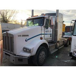 2011 KENWORTH AEROCAB, TRUCK TRACTOR, WHITE, VIN #1XKDD40X6BJ945286