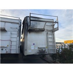 2010 53' TITAN TRIDEM CHIP TRAILER AIR RIDE, WALKING FLOOR, CHINA TOP