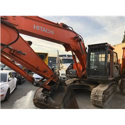 HITACHI ZX210K SER # 1G8P100524 CRAWLER EXCAVATOR WITH TRIPLE GROUSERS, ROCK GUARDS,