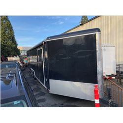 2018 CONTINENTAL QUAD/EQUIPMENT 38FT BOX TRAILER, BLACK, VIN # 5NHUAPH31JF709991