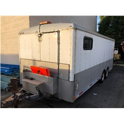 2007 WELLSCARGO BOX SERVICE 20FT TRAILER, WHITE, VIN # 1WC200J2574064253