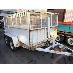 2003 HITCHMAN DUMP TRAILER, WHITE, VIN # 2L9DS23EX3L151062