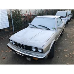 1987 BMW 325I, 2DR CONVERTIBLE, GREY, VIN # WBABB1303H1930272