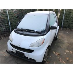 2009 SMART FORTWO, 2DR CAR, BLACK, VIN # WMEEJ31XX9K219275