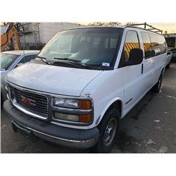 1999 GMC 3500 SLE, 3DR CARGO VAN, WHITE, VIN # 1GJHG39R7X1120683