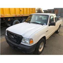 2011 FORD RANGER, 4DR EX CAB PU, WHITE, VIN # 1FTKR4ED5BPA95795