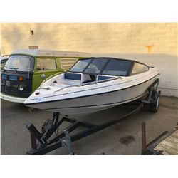 CORSAIR 185 BOAT WITH TRAILER. NO REGISTRATION BOAT HULL NUMBER SB2R0844H091