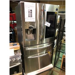 SAMSUNG RF28NHEDBSR STAINLESS STEEL FRENCH DOOR FRIDGE, WITH DOUBLE DRAWER FREEZER, WATER AND ICE