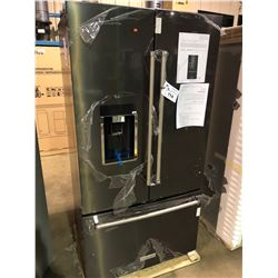 KITCHENAID KRFC704FBS01 BLACK STAINLESS FRENCH DOOR FRIDGE WITH ROLL OUT FREEZER, AND WATER AND ICE