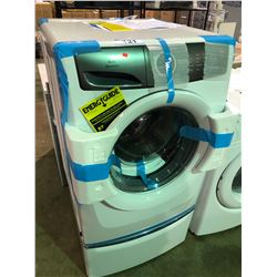 WHITE ELECTROLUX LUXCARE WASH EFLW427UIW FRONT LOADING CLOTHES WASHER WITH MATCHING PEDESTAL