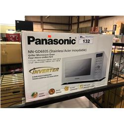 PANASONIC  STAINLESS STEEL NN-GD693S GRILLER COUNTERTOP MICROWAVE OVEN WITH INVERTER